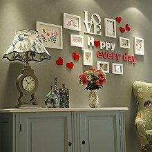 Photo Wall Casimir Idyllisch Massivholz-Wand