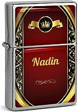 PhotoFancy® - Sturmfeuerzeug Set mit Namen Nadin