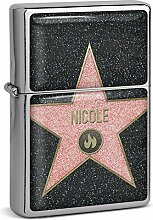 PhotoFancy® - Sturmfeuerzeug Set mit Namen Nicole
