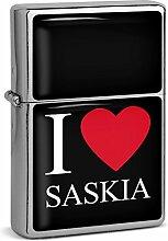 PhotoFancy® - Sturmfeuerzeug Set mit Namen Saskia