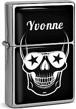 PhotoFancy® - Sturmfeuerzeug Set mit Namen Yvonne