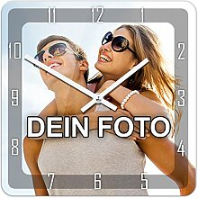 PhotoFancy Uhr mit Foto bedrucken - Fotouhr aus
