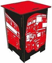 Photohocker Doppeldecker Bus Sitzhocker Werkhaus
