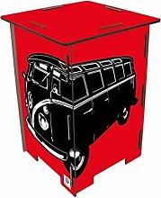 Photohocker rot VW T1 Sitzhocker Werkhaus