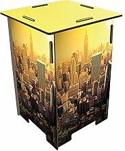 Photohocker Skyline New York Hocker Sitzhocker Holzwerkstoff Werkhaus
