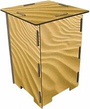 Photohocker Wüste Sand Wüstensand Hocker Sitzhocker Holzwerkstoff Werkhaus