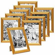 PHOTOLINI 10x Bilderrahmen Gold Barock Antik 13x18