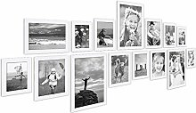 PHOTOLINI 15er Bilderrahmen-Collage Basic