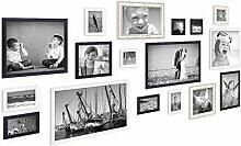 PHOTOLINI 17er Set Bilderrahmen für grosse