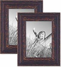 PHOTOLINI 2er Set Vintage Bilderrahmen 13x18 cm