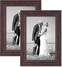 PHOTOLINI 2er Set Vintage Bilderrahmen 20x30 cm