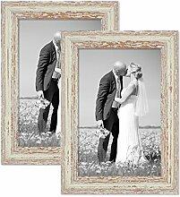 PHOTOLINI 2er Set Vintage Bilderrahmen 21x30