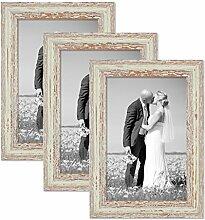 PHOTOLINI 3er Set Vintage Bilderrahmen 21x30 cm