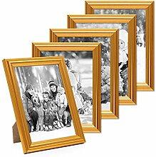 Photolini 5X Bilderrahmen Gold Barock Antik 13x18