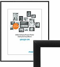 PHOTOLINI Alu-Bilderrahmen 40x50 cm Modern Schwarz