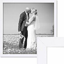 PHOTOLINI Bilderrahmen 40x40 cm Weiss Modern aus