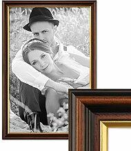 PHOTOLINI Bilderrahmen 40x60 cm Antik Dunkelbraun