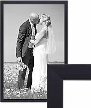 PHOTOLINI Bilderrahmen 40x60 cm Schwarz Modern aus