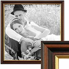 PHOTOLINI Bilderrahmen 50x50 cm Antik Dunkelbraun