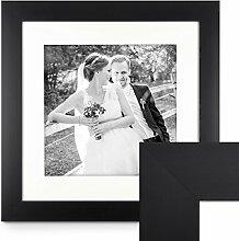 PHOTOLINI Bilderrahmen 50x50 cm Schwarz Modern