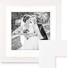 PHOTOLINI Bilderrahmen 50x50 cm Weiss Modern Breit