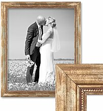 Photolini Bilderrahmen 50x60 cm Gold Barock Breit