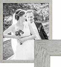 Photolini Bilderrahmen 50x60 cm Strandhaus Grau
