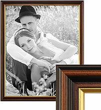 PHOTOLINI Bilderrahmen 50x70 cm Antik Dunkelbraun