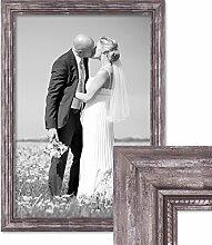 PHOTOLINI Bilderrahmen 50x70 cm Silber Barock