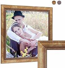 PHOTOLINI Bilderrahmen 60x60 cm Gold Barock Antik