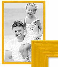 PHOTOLINI Bilderrahmen Gelb 40x60 cm Massivholz