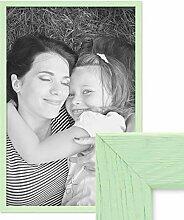 PHOTOLINI Bilderrahmen Grün 40x60 cm Massivholz