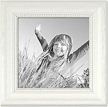 PHOTOLINI Bilderrahmen Landhaus-Stil Weiss 15x15