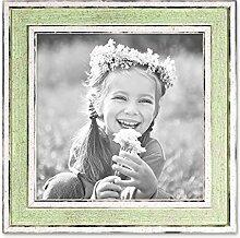 PHOTOLINI Bilderrahmen Pastell/Alt-Weiß Hellgrün