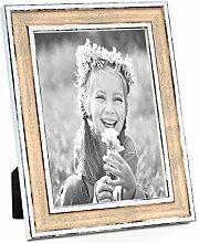 Photolini Bilderrahmen Pastell/Alt-Weiß Rosa