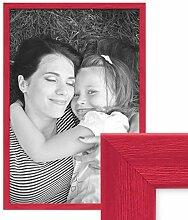 PHOTOLINI Bilderrahmen Rot 40x60 cm Massivholz mit
