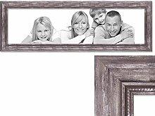 PHOTOLINI Panorama-Bilderrahmen 30x90 cm Silber