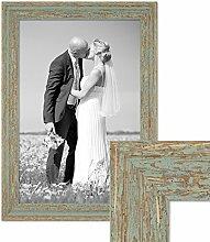 PHOTOLINI Vintage Bilderrahmen 30x45 cm Grau-Grün