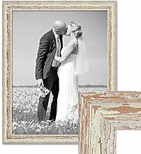 PHOTOLINI Vintage Bilderrahmen 40x50 cm Weiss