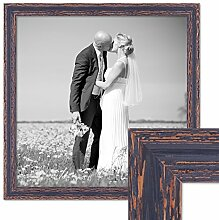 Photolini Vintage Bilderrahmen 50x50 cm Holz