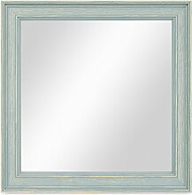 PHOTOLINI Wand-Spiegel 24x24 cm im Holzrahmen
