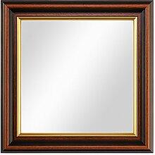 PHOTOLINI Wand-Spiegel 26x26 cm im Holzrahmen