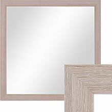PHOTOLINI Wand-Spiegel 33x33 cm im Holzrahmen