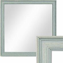 PHOTOLINI Wand-Spiegel 34x34 cm im Holzrahmen