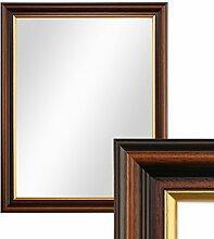 PHOTOLINI Wand-Spiegel 36x46 cm im Holzrahmen