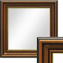Photolini Wand-Spiegel 40x40 cm im Holzrahmen