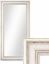 Photolini Wand-Spiegel 40x70 cm im Massivholz-Rahmen Landhaus-Stil Weiss/Spiegelfläche 30x60 cm