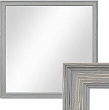 PHOTOLINI Wand-Spiegel 44x44 cm im Holzrahmen