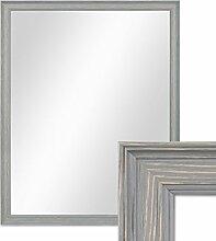 PHOTOLINI Wand-Spiegel 44x54 cm im Holzrahmen