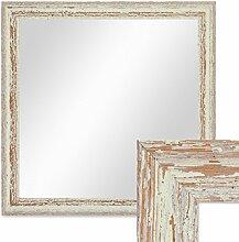 PHOTOLINI Wand-Spiegel 46x46 cm im Holzrahmen